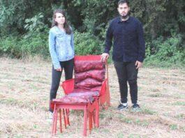Os estudantes Gislaine Lao e Felipe de Carvalho Ishiy, recém formados em Design de Produtos ganharam o Oscar Mundial do Design Foto: Divulgação